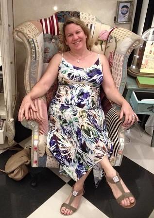 Palm Leaf Print dress