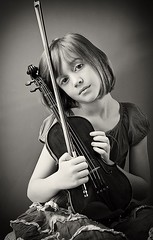 Young melancholy violinist | by Carolyn Hampton