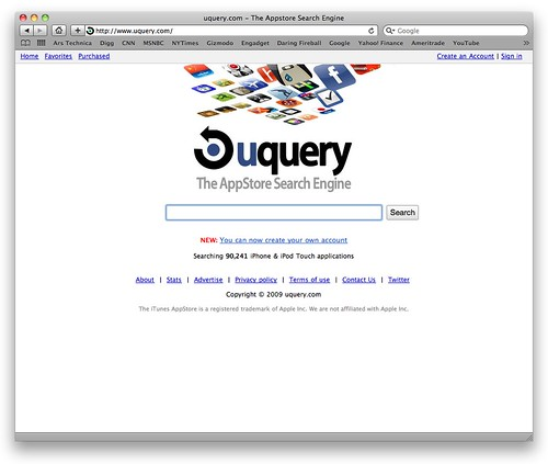 how to create a search engine app