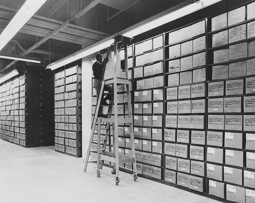 Washington National Records Center Stack Area with Employee Servicing Records | by The U.S. National Archives