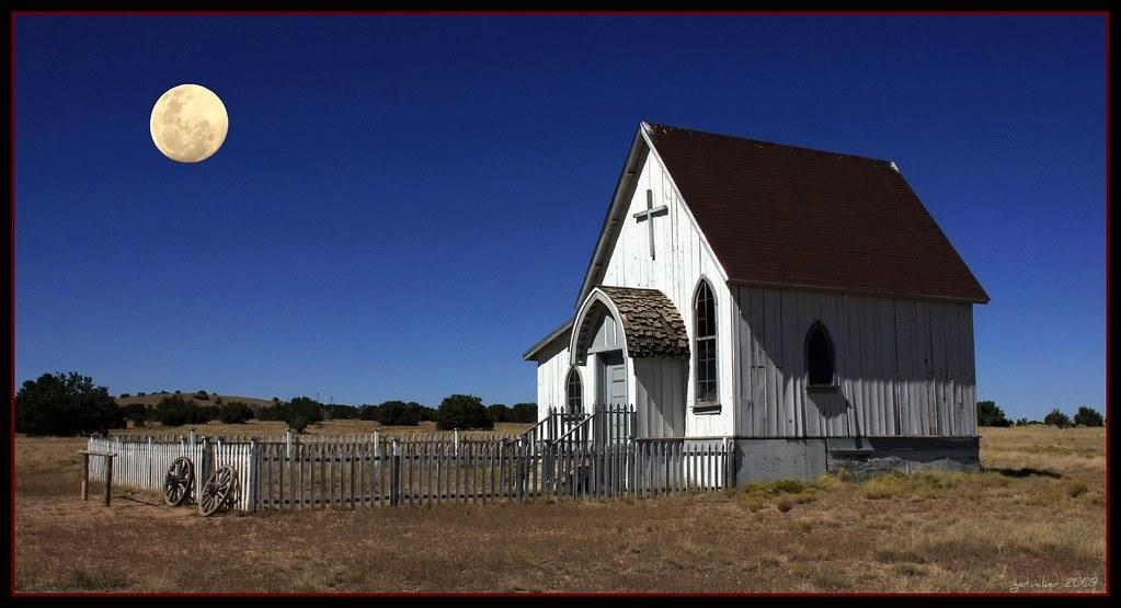 Moon Over Church Eaves Movie Ranch Santa Fe Nm Flickr
