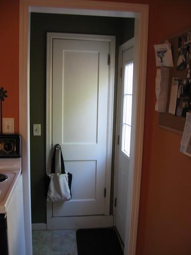 Kitchen pantry back door from kitchen holli rausch for Kitchen back door