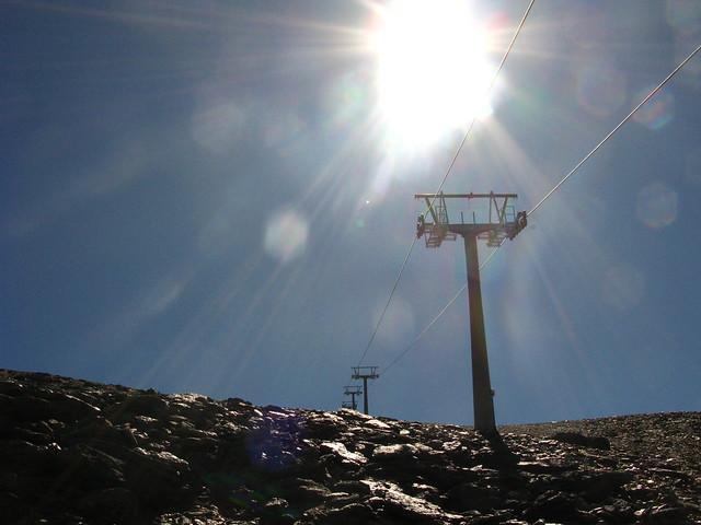 Donde chocan el Parque Nacional y la Estación de Esquí ....