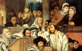 Gottlieb - Jews Praying in the Synagogue on Yom Kippur | by Trodel