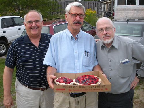Hutch, Steve and Jim disgracing themselves with fruit pies