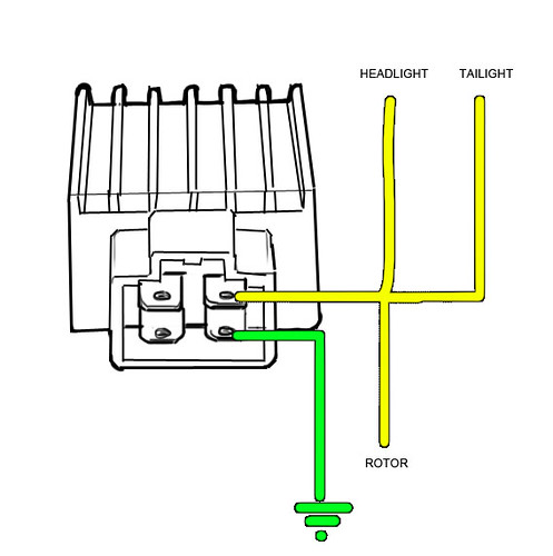 4 Pin Rectifier Wiring Diagram | Schematic Diagram  Pin Voltage Regulator Wiring Diagram on