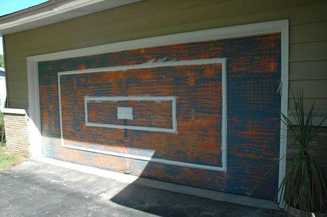 Garage Door Trim Painted