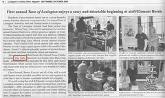 Lexington Colonial Times Press Clipping | by theoliveoilblog