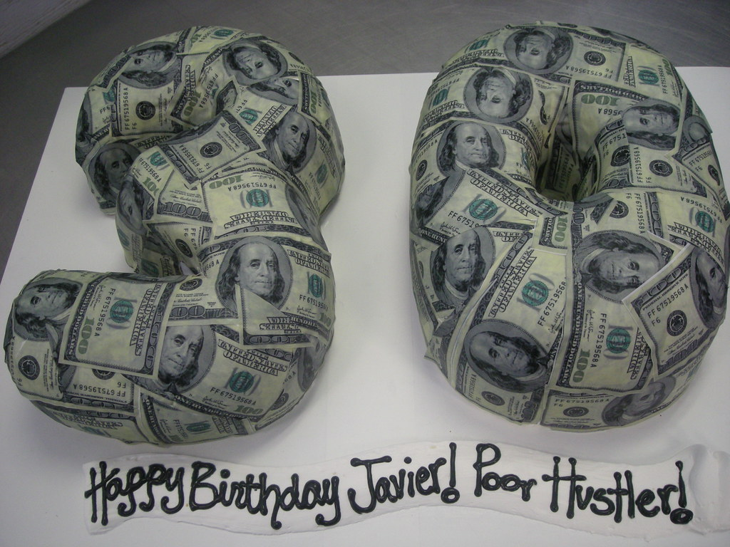 30th birthday money cake (78)  30th birthday cake with edib ...
