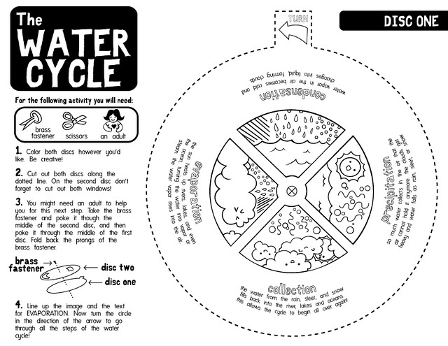 water cycle worksheets b w black and white version edi flickr. Black Bedroom Furniture Sets. Home Design Ideas