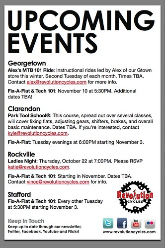 Upcoming Events Flyer Design Revolution Cycles Flickr