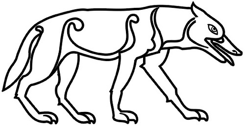 Pictish Wolf Pictish Animals This Pictish Design Is That Flickr