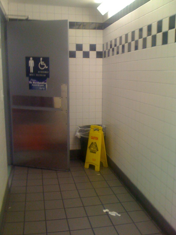 walmart bathroom checkered brickster1 flickr