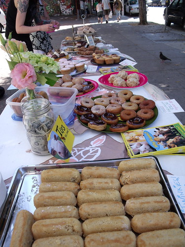 The spread at the Mission vegan bake sale | by wonderyort