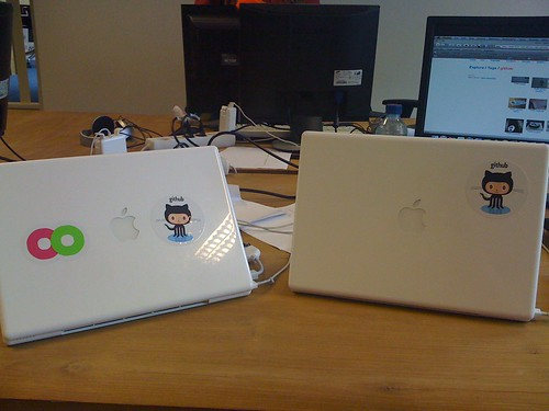 Macbooks with Octocat on them | by Narnach