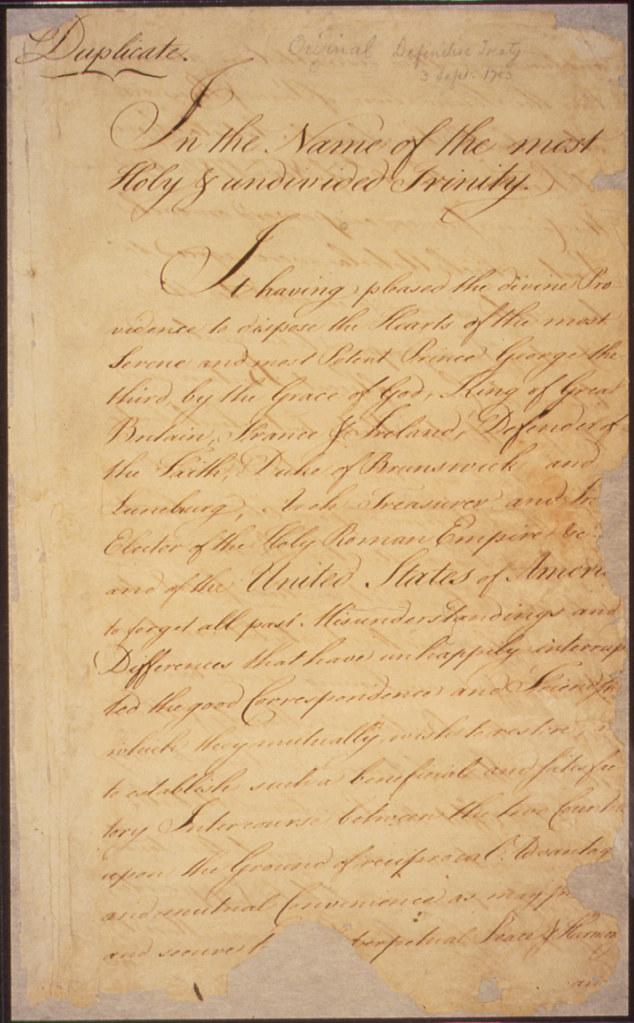 Treaty Of Paris Page 1 Original Caption Treaty Of Paris Flickr