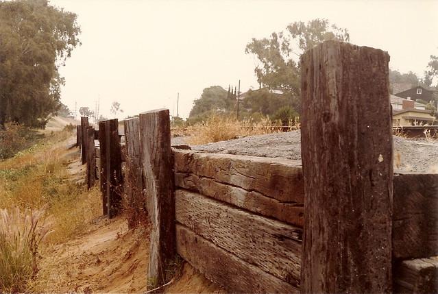 railroad tie retaining wall emd flickr