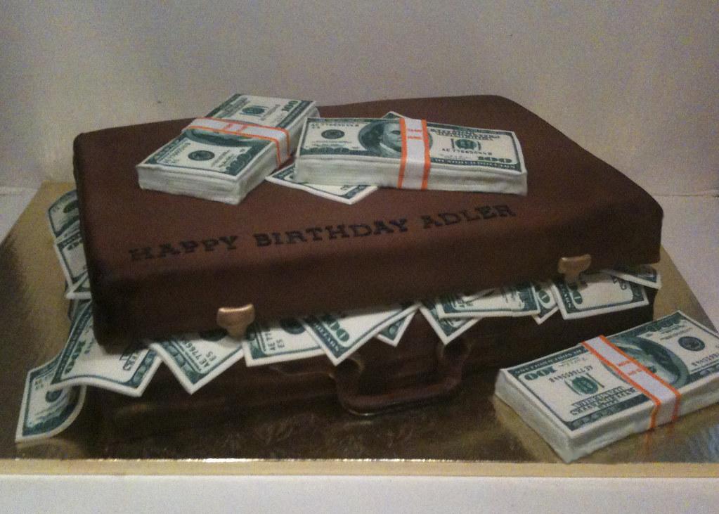 Suitcase full of money cake bcakeny flickr - Money cake decorations ...