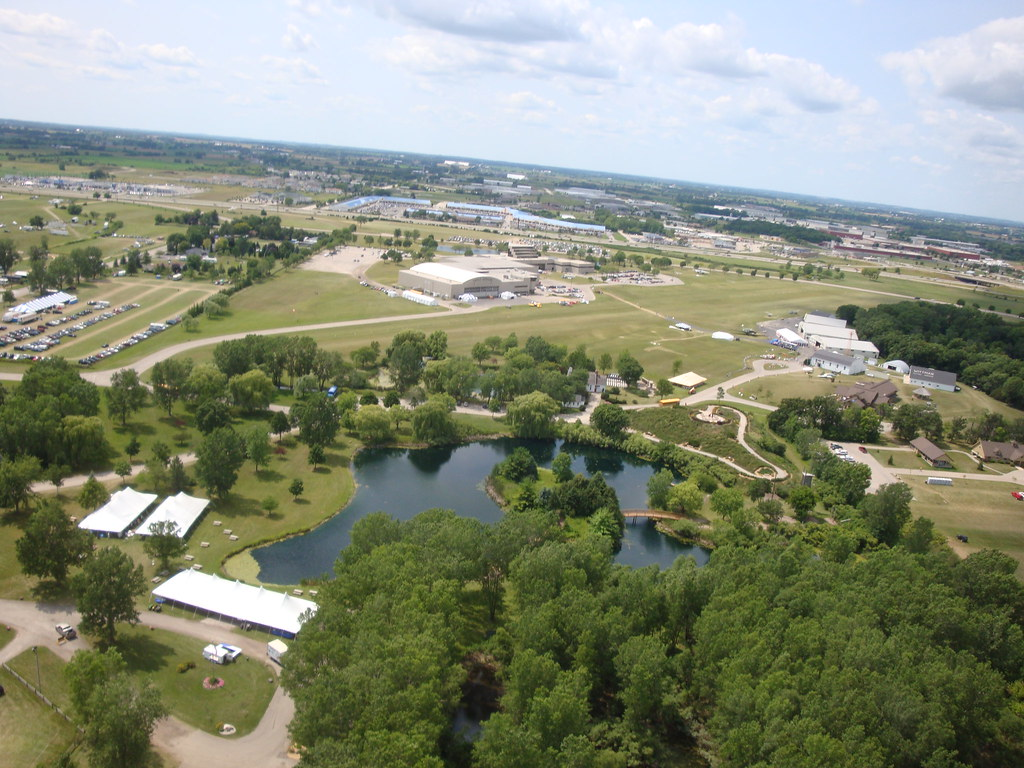 Dsc02890 Flying Over The Eaa Academy Campus In A Bell 47