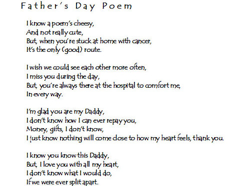 Creative Corner Morgan S Father S Day Poem Morgan H
