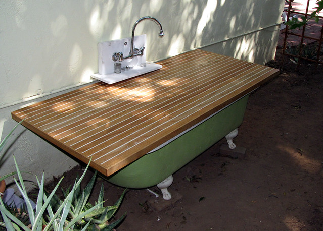 Outdoor Bath Tub Cover | I made this one for the neighbors o… | Flickr