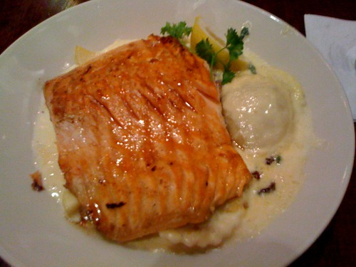 Maple-glazed Salmon with Butternut Squash Ravioli | Erica ...