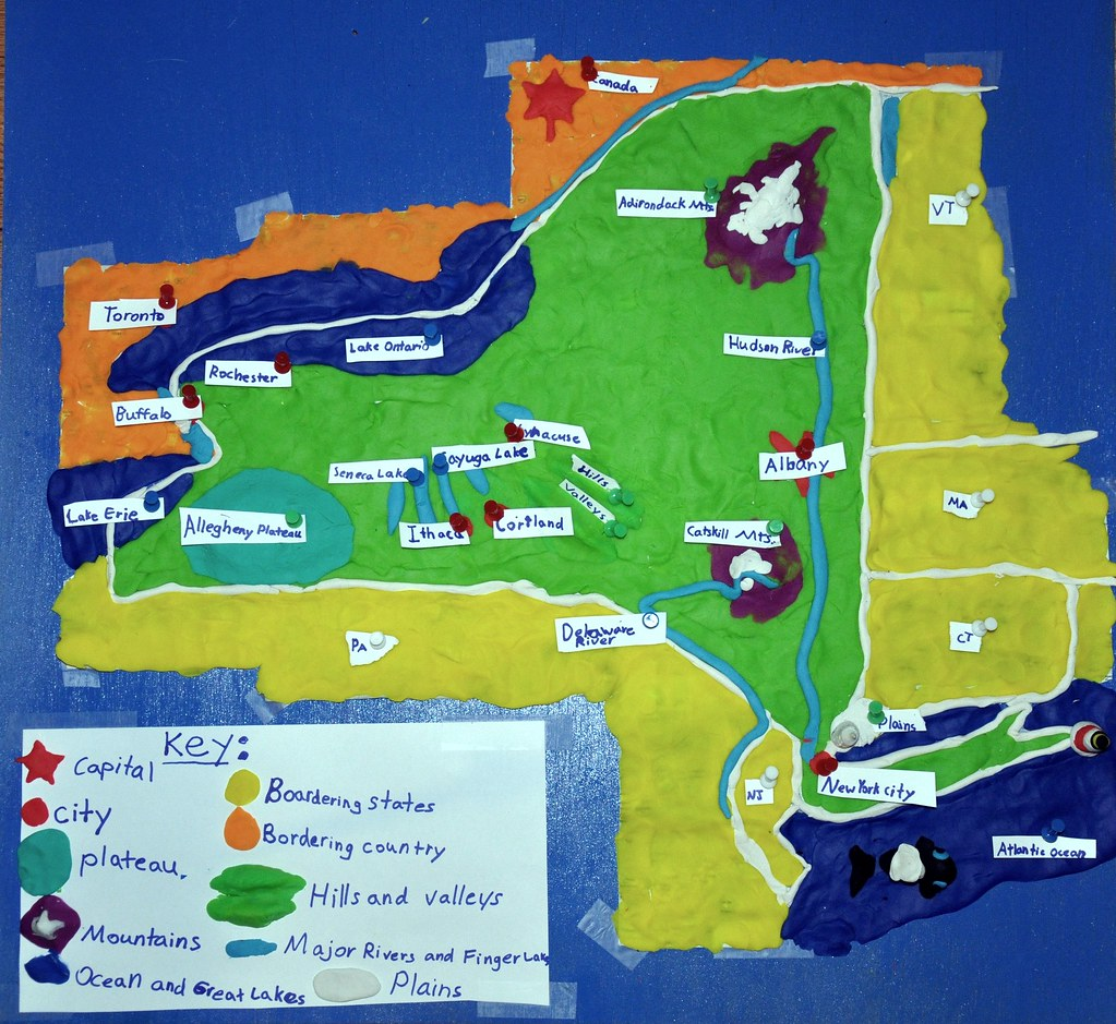 New York State Map In PlayDoh A Map Of New York State Mad Flickr - New york map key