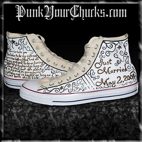 Converse Custom Chuck Taylor All Star Rose Embroidery Low Top. Men's Shoe. $ Customize CUSTOMIZE IT WITH NIKEiD. Prev. eyelets, or add your name or a special message. You can even create a custom pair of bridal Converse shoes for your wedding. Spark your creativity with a pair of custom sneakers that you can use to dress any look up or.