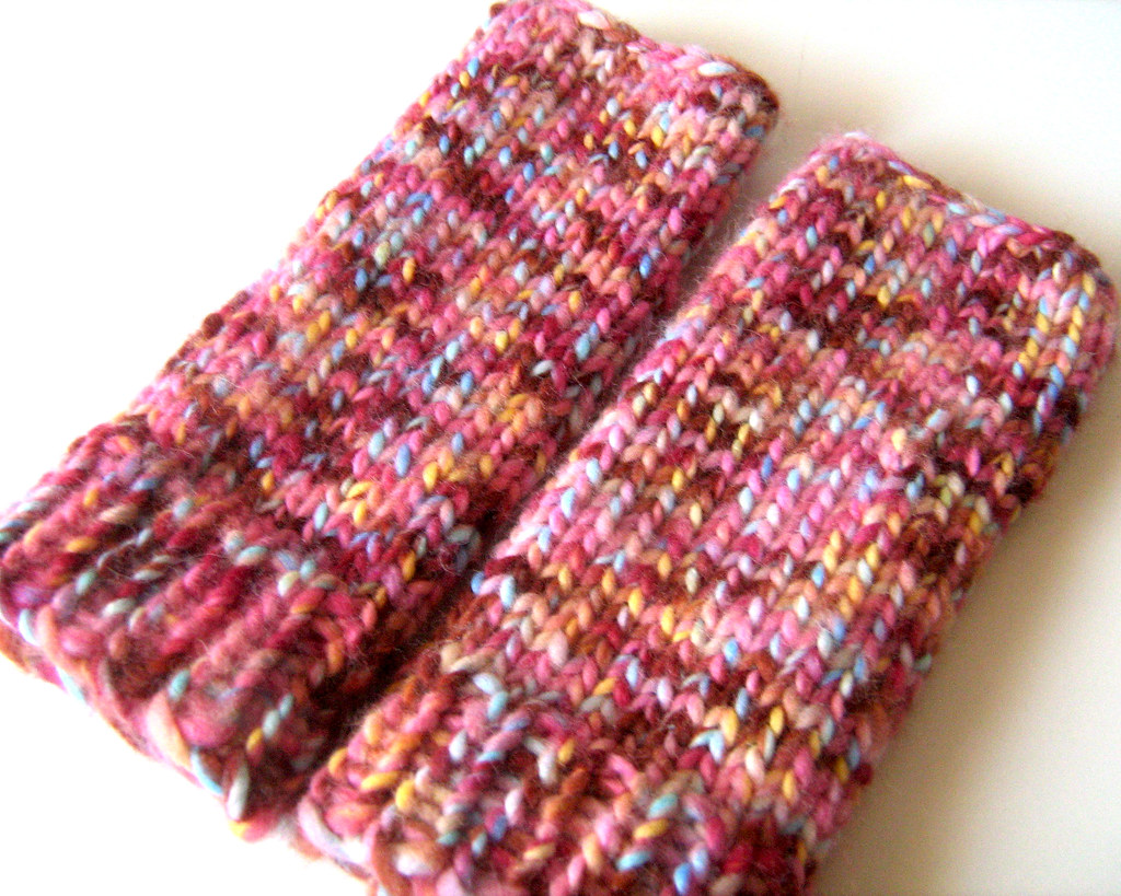 finished wrist warmers | I made a few modifications to the ...