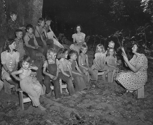 Mary Brown reads to migrant children | by OSU Special Collections & Archives : Commons