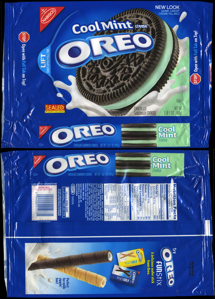 Nabisco Oreo Cool Mint Creme Cookie Package 2009 Flickr