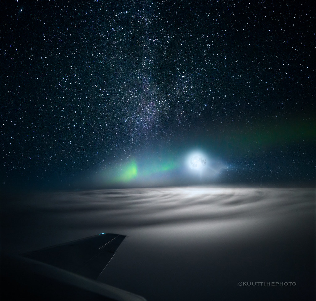 Aurora flight at Rovaniemi