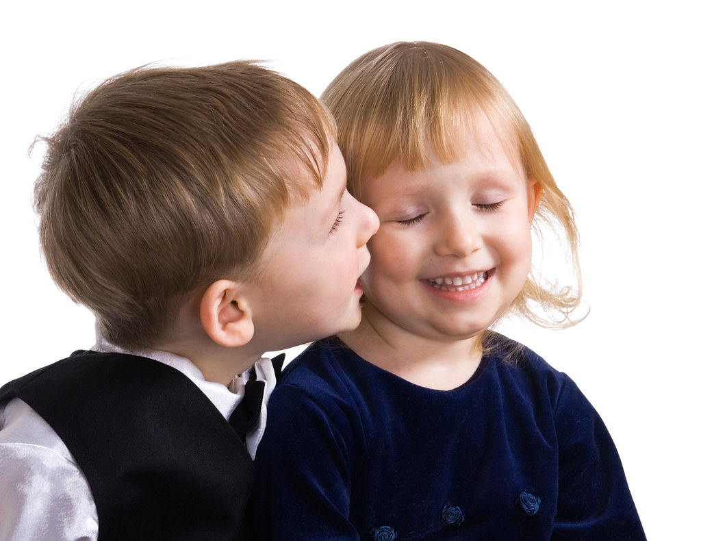 Small Boy And The Girl Kiss Youngl Boy And The Girl Kiss Flickr
