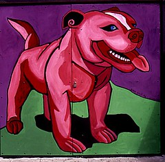 Let's Play! (detail of Cave Canem mural): 1998 | by Julia L. Kay
