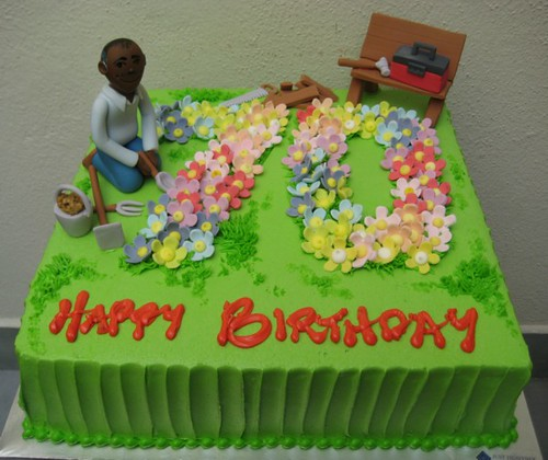 gardening birthday | a 70th birthday cake for a guy who love… | Flickr