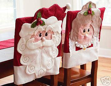Capa cadeira natal em feltro pessoal algu m tem o molde - Como hacer lazos decorativos ...