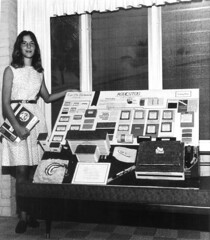 Pine Crest School student Audrey Kline with her 8th grade Earth science project about asbestos: Fort Lauderdale, Florida | by State Library and Archives of Florida
