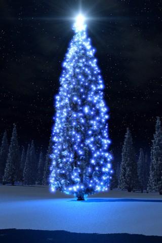 christmas tree iphone wallpaper by lorinawong