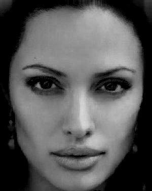 rostro de mujer en blcanco y negro 1 | fusion de rostros ... Salma Hayek