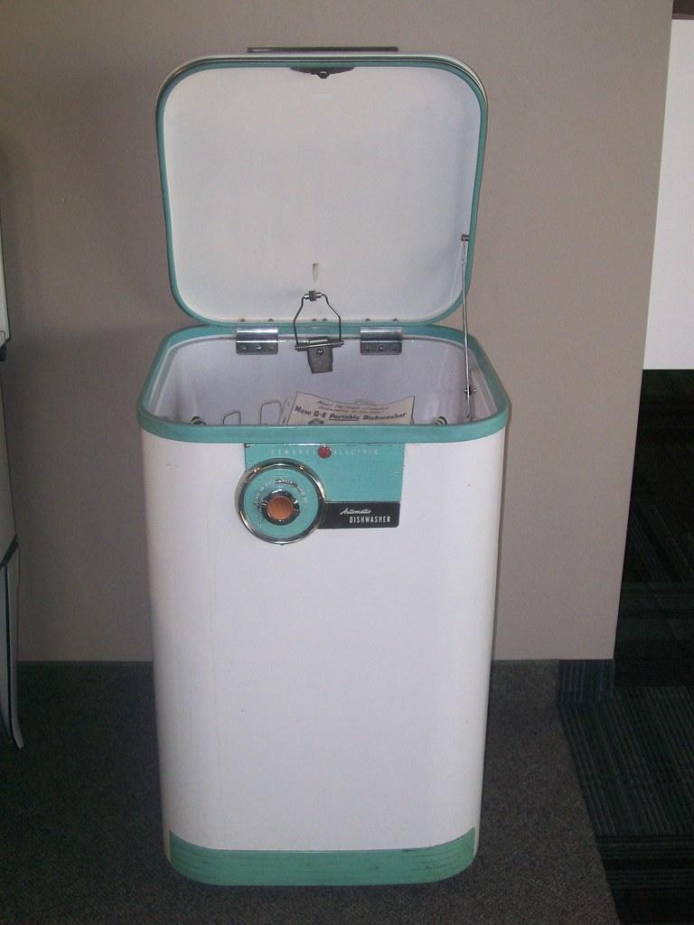 vintage ge portable dishwasher by stellian