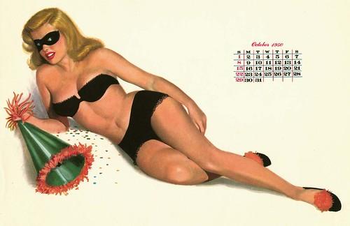 1950 pin up calendar pin up girls susan criser flickr. Black Bedroom Furniture Sets. Home Design Ideas