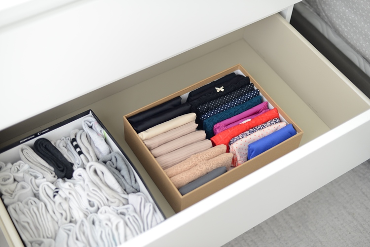 After Konmari Method Underwear Drawer