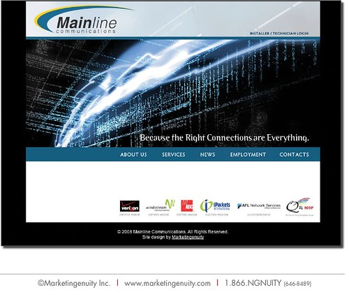Web Design - Mainline Communications | by marketingenuity