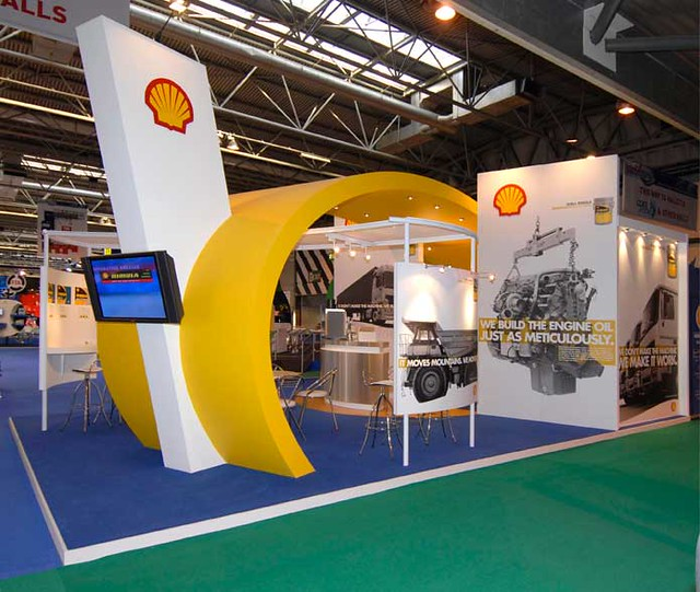 Shell Photography Exhibition : Shell uk oil products exhibition stand european exhibiti