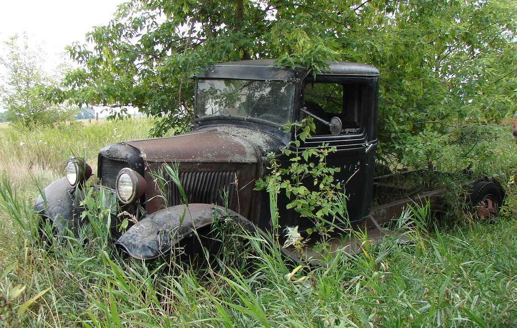Abandoned Truck Perhaps An Old Chevrolet Not Too Sure