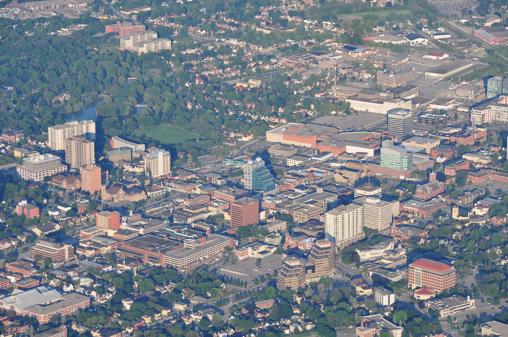 Downtown Kitchener | Zoomed in, so it's easy to pick out ...