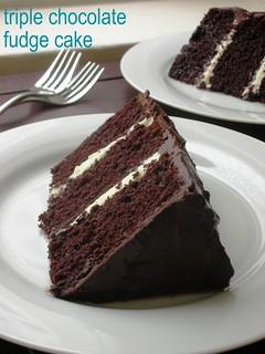 Chocolate Fudge Cake Layered With Ganache