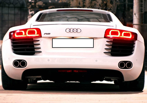 Audi R8 Full Rear View Exterior Photo | Audi R8 is a new in … | Flickr