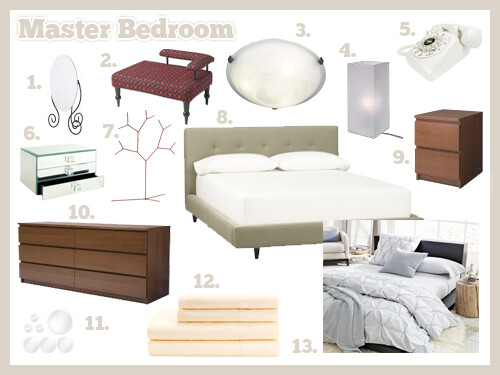 Bedroom Mood Board 1 Ikea Myken Mirror 2 Ikea B 196 Stis