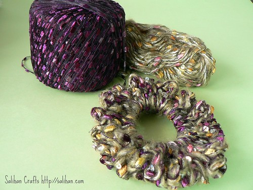 Novelty Yarn Crochet Hairband 3 | by :Salihan